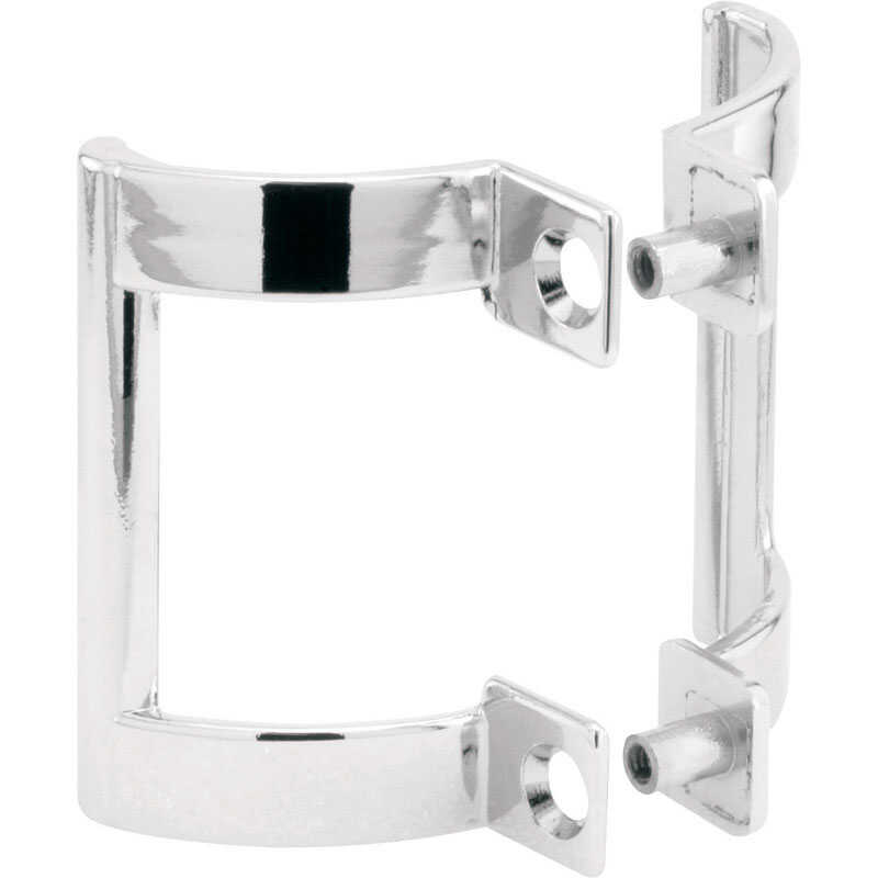 Prime-Line  2 in. H x 1-1/5 in. W Chrome  Silver  Frameless  Shower Door Handle