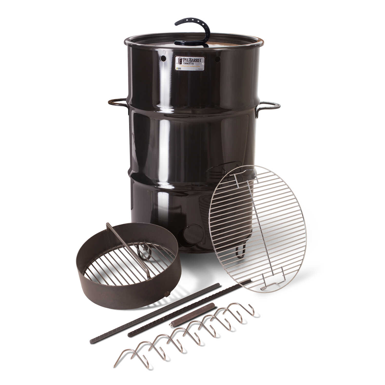 Pit Barrel Cooker  18.5 in. W Black  Outdoor Cooker  Charcoal
