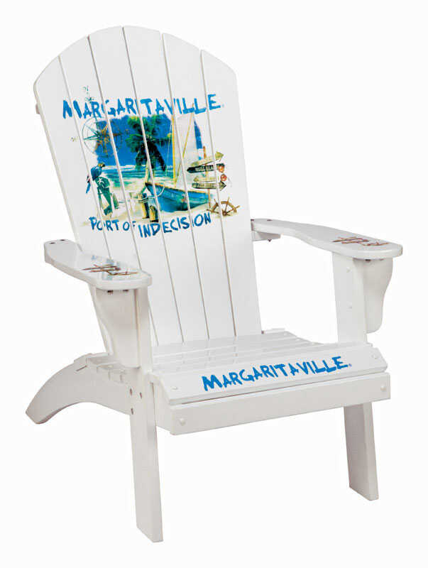 Rio Brands  Margaritaville Port of Indecision  White  Wood  Adirondack  Chair