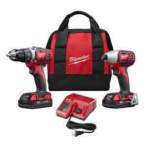 Milwaukee  M18  Cordless  2 tool Drill/Driver and Impact Driver Combo Kit  18 volt 1.5 amps