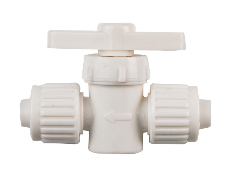 Flair-It  1/2 in.  x 1/2 in.  Plastic  Straight  Supply Valve