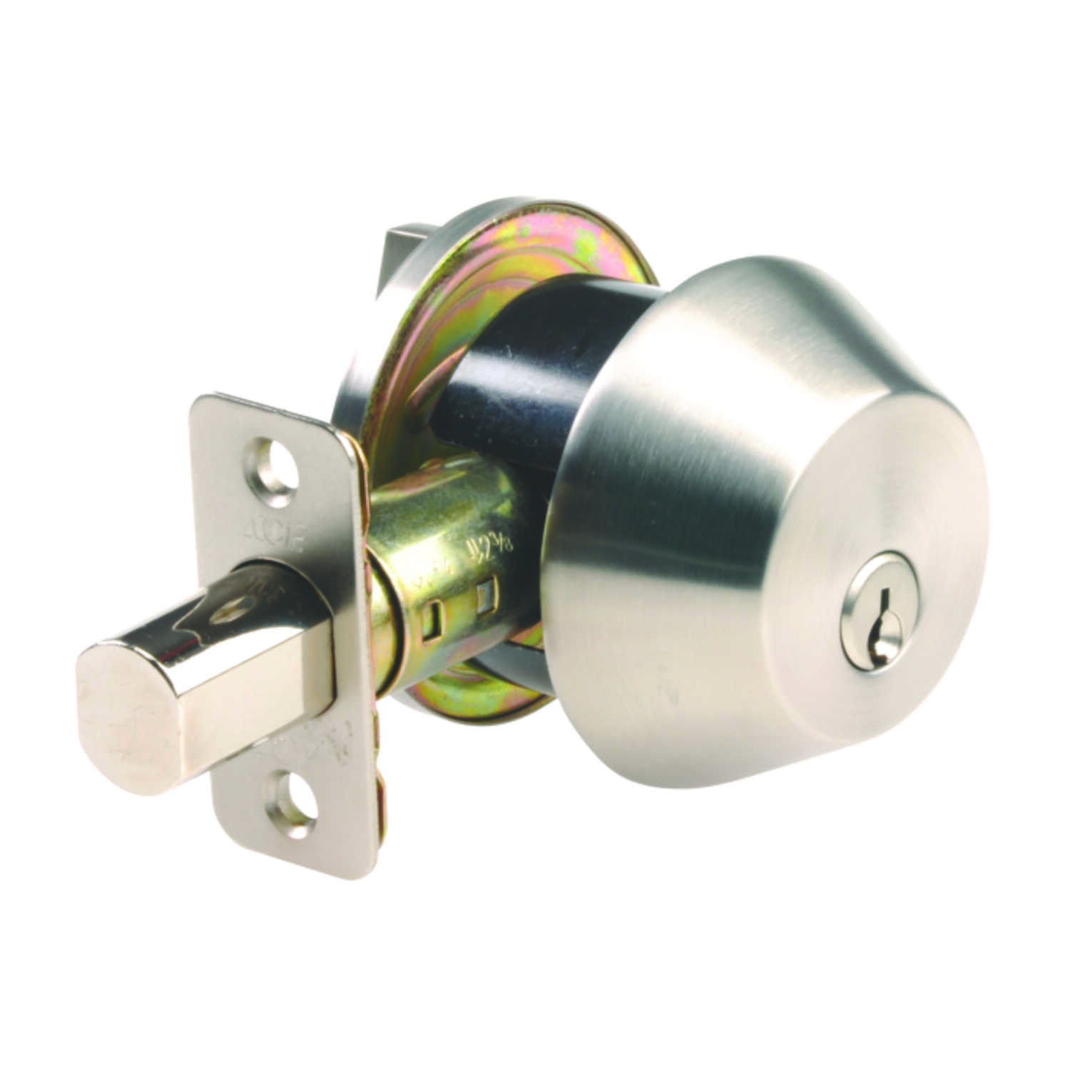 Ace  Stainless Steel  Stainless Steel  Single Cylinder Deadbolt
