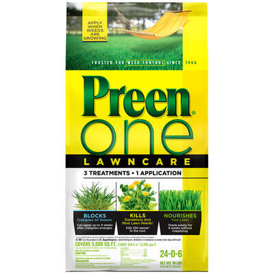 Preen  One Lawncare  24-0-6  Weed & Feed and Crabgrass Preventer  For Multiple 18 lb. 5000 sq. ft.