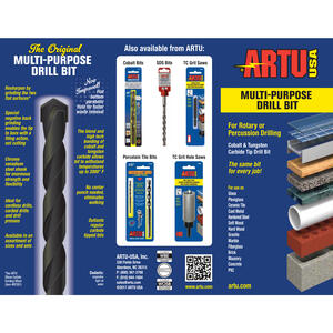 ARTU  3/16 in.  x 5-1/2 in. L Tungsten Carbide Tipped  Concrete Screw Bit  1 pc.