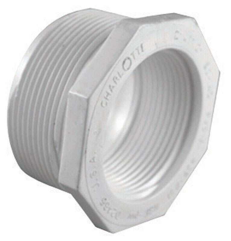 Charlotte Pipe Schedule 40 1-1/4 in. MPT x 1/2 in. Dia. FPT PVC Reducing Bushing