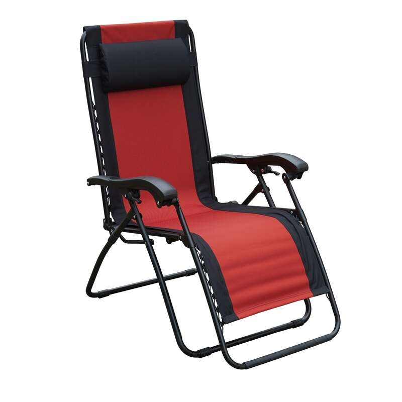 Living Accents  Red  Zero Gravity  Relaxer Chair