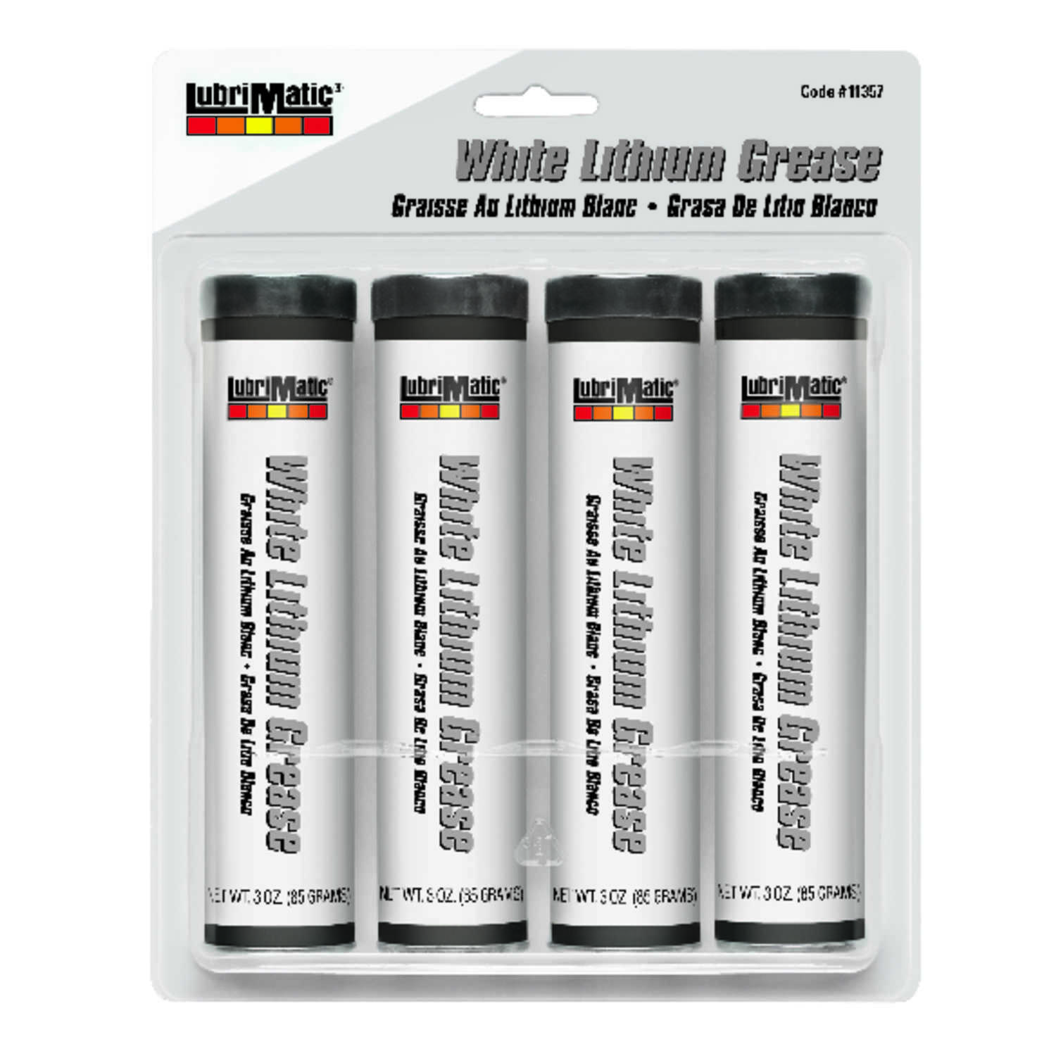 Lubrimatic  White Lithium  Grease  Can  3 oz.