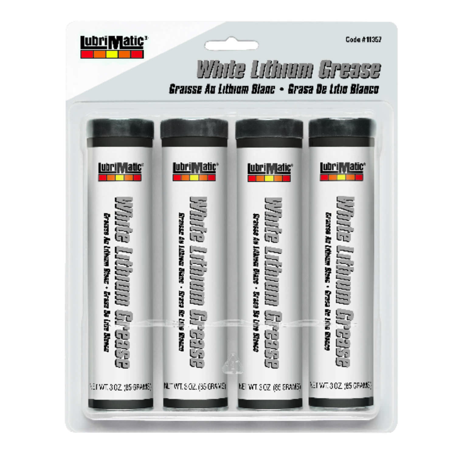 Lubrimatic  White Lithium  Grease  3 oz. Can