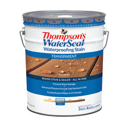 Thompson's WaterSeal Transparent Acorn Brown Waterproofing Wood Stain and Sealer 5 gal.