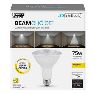 FEIT Electric  Intellibulb BeamChoice  PAR30  E26 (Medium)  LED Bulb  Bright White  75 Watt Equivale