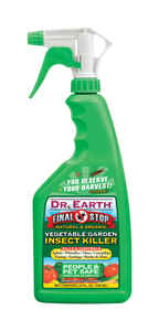 Dr. Earth  Final Stop Vegetable Garden  Organic Insect Killer  24 oz.