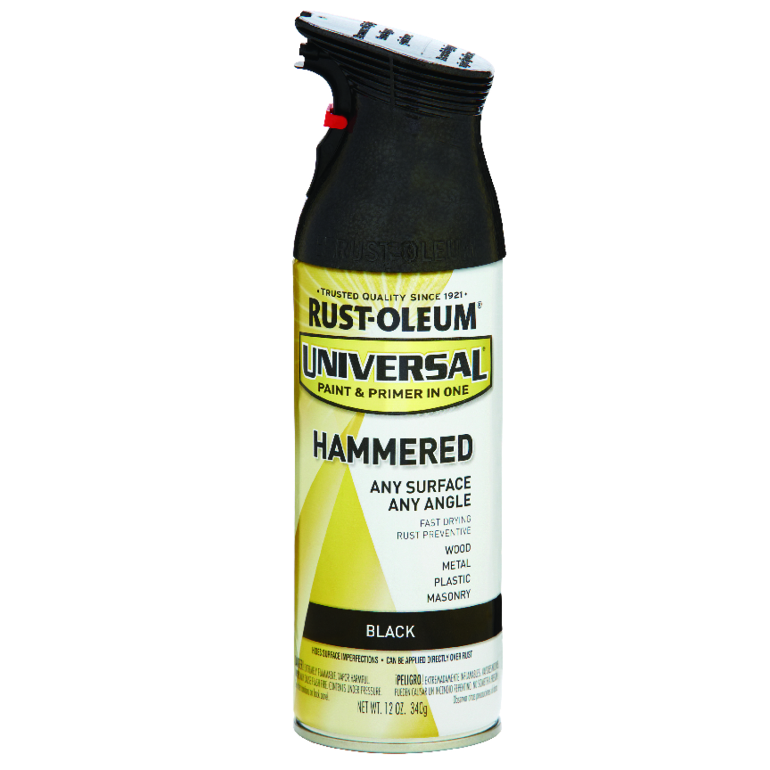 Rust-Oleum  Universal  Hammered  Black  Spray Paint  12 oz.