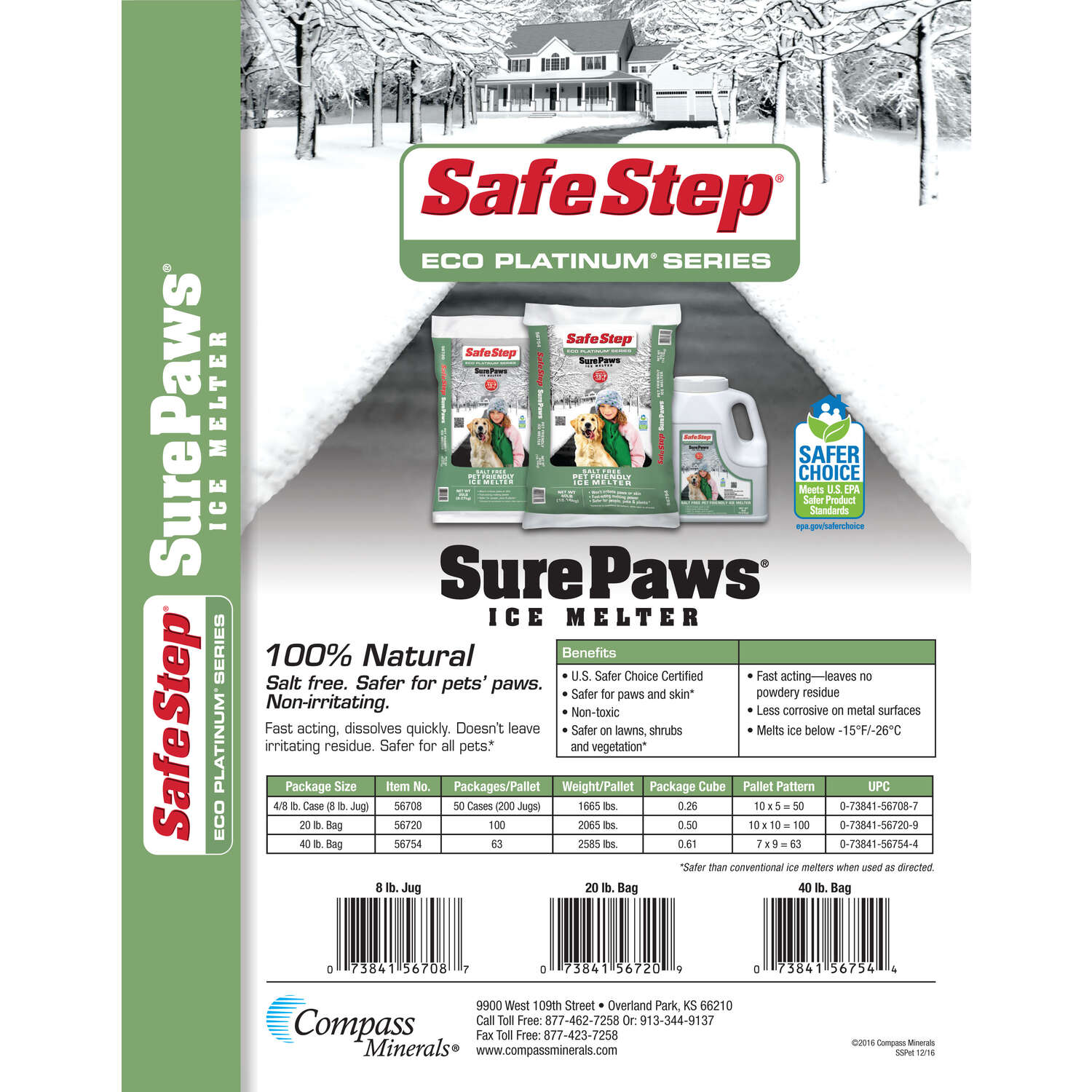 Safe Step  Sure Paws  Magnesium Chloride  Pet Friendly Ice Melt  40 lb. Granule