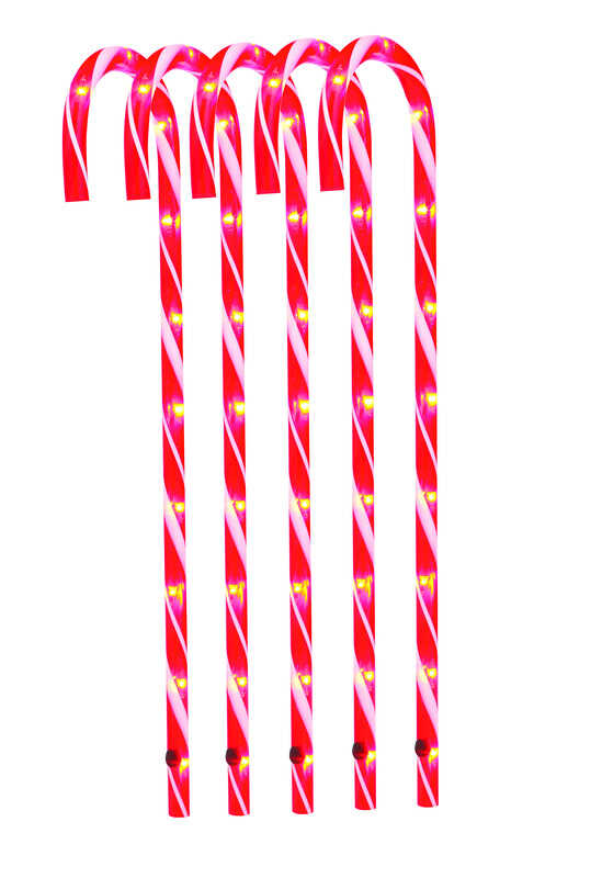 Sienna  Candy Canes  Driveway Markers  Plastic  5 pk