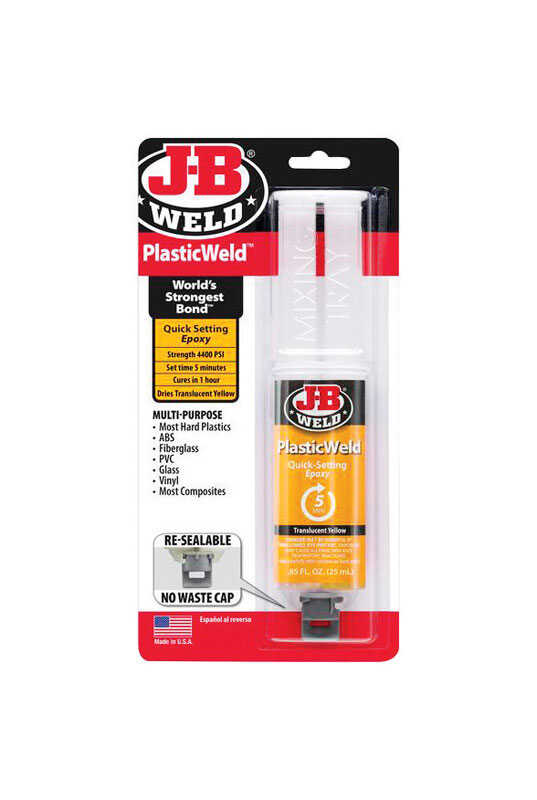 J-B Weld  Plastic Weld  High Strength  Gel  Automotive Epoxy  0.85 oz.