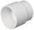 Charlotte Pipe  Schedule 40  3 in. Hub   x 3 in. Dia. Hub  PVC  Pipe Adapter