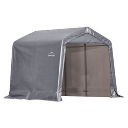 Arrow Storage Products  Shed-In-A-Box  8 ft. H x 8 ft. W x 8 ft. D Gray  Polyethylene/Steel  Storage