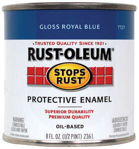 Rust-Oleum  Indoor and Outdoor  Royal Blue  Protective Enamel  0.5 pt. Gloss