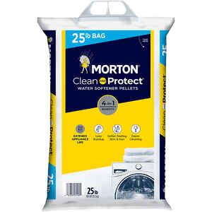 Morton Salt  Clean And Protect  Water Softener Salt  Pellets  25 lb.