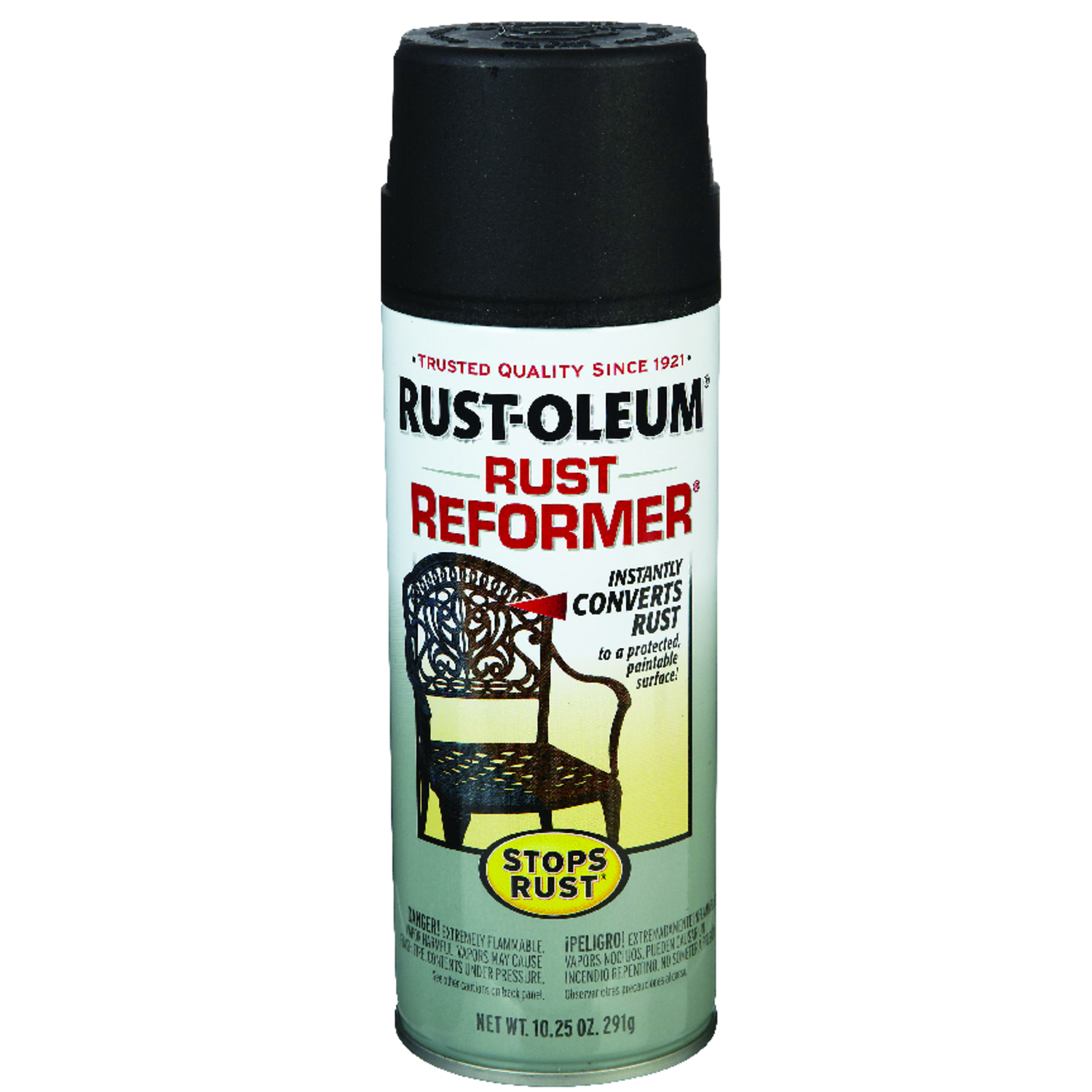 Rust-Oleum  Stops Rust  Indoor and Outdoor  Black  Interior/Exterior  Protective Paint  10.25 oz.
