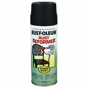 Rust-Oleum  Stops Rust  Indoor and Outdoor  Black  Protective Paint  10.25 oz.