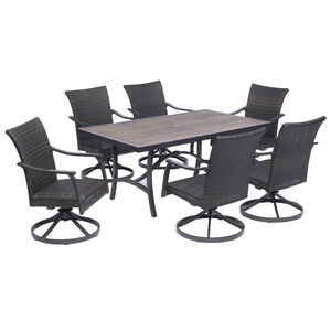 Living Accents  Avalon  7 pc. Gray  Wicker  Set