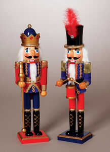 Gerson  Traditional  Nutcracker  Multicolored  Wood  1 pk