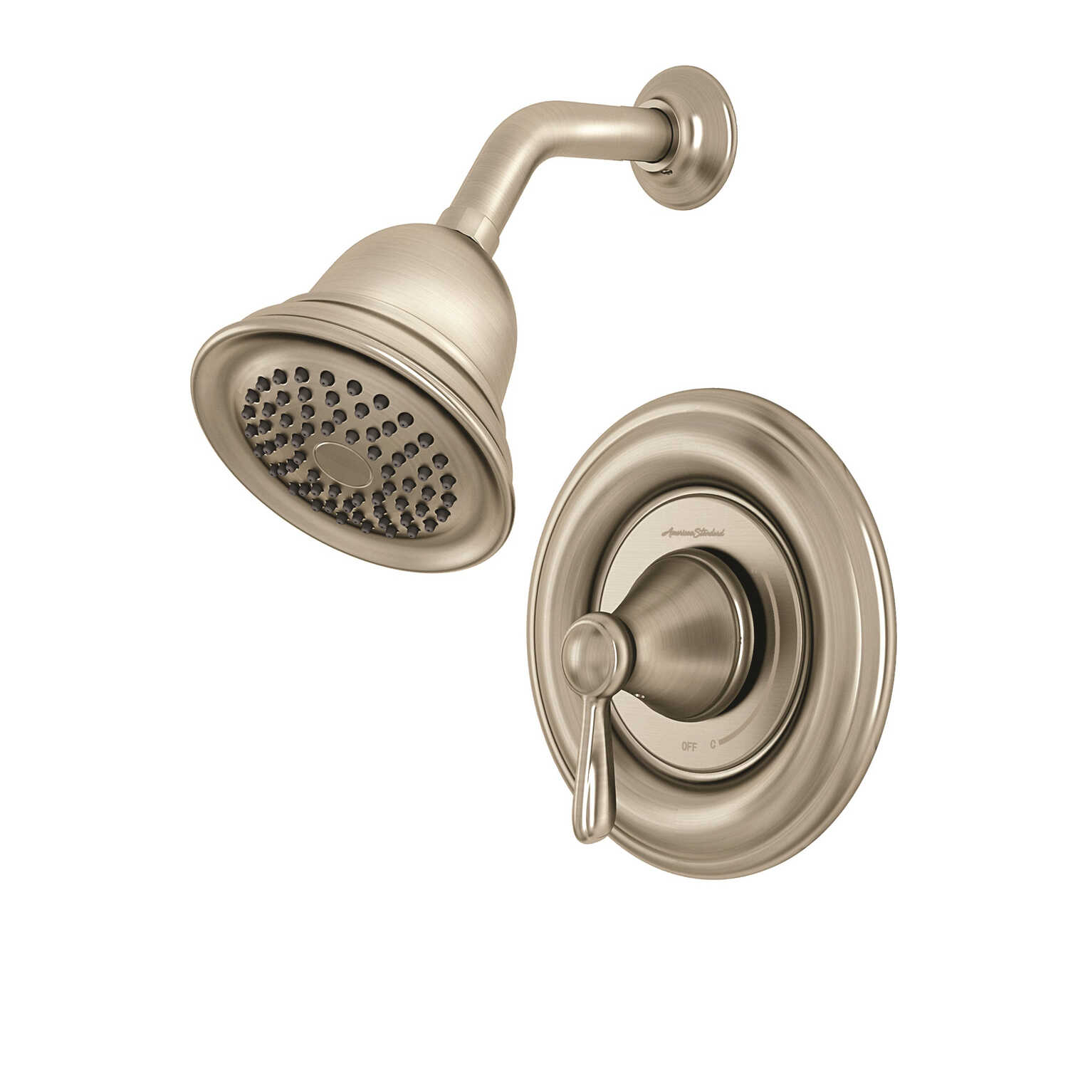 American Standard Marquette 1 Handle Shower Faucet Brushed Nickel ...
