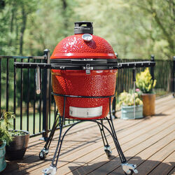 Kamado Joe  Classic II  Charcoal  Kamado  Grill  Red  47 in.