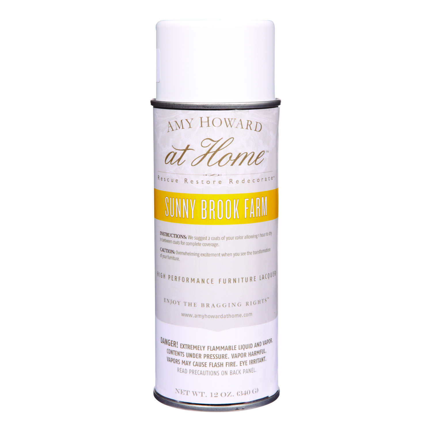 Amy Howard at Home  Gloss  Sunny Brook Farm  High Performance Furniture Lacquer Spray  12 oz.