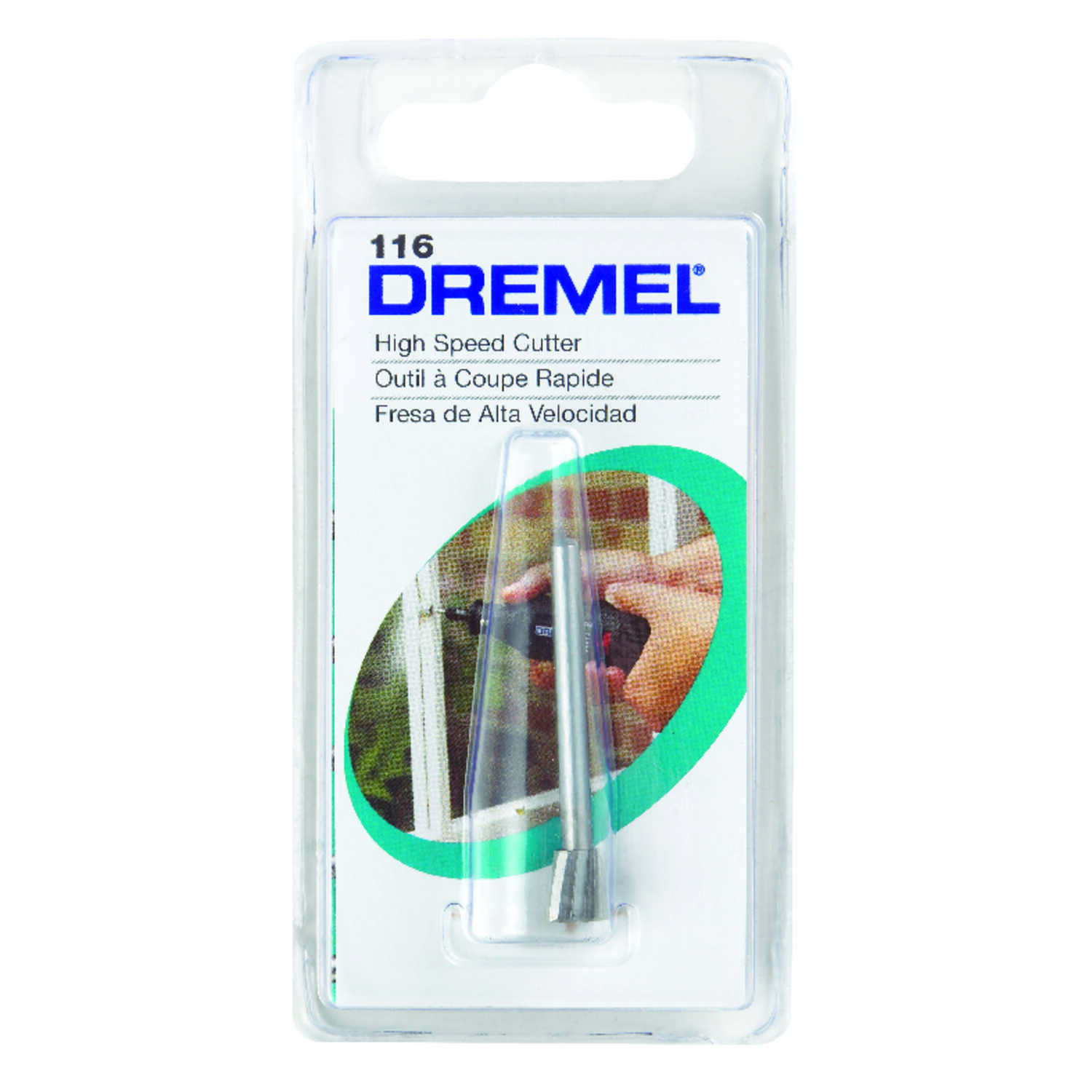 Dremel  1/4 in   x 1.5 in. L x 1/8 in. Dia. Steel  High Speed Cutter  1 pk