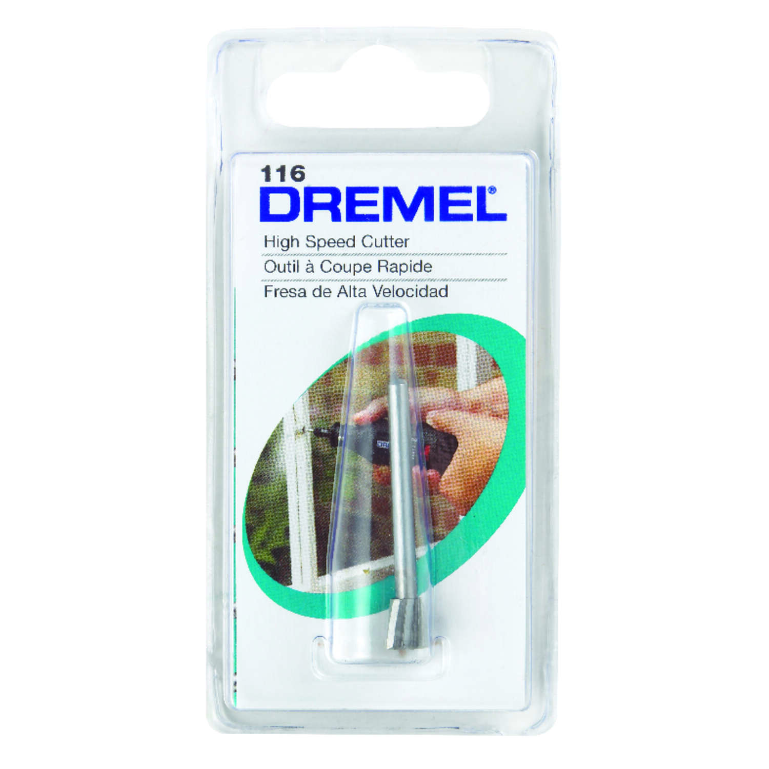 Dremel  1/4 in   x 1.5 in. L x 1/8 in. Dia. High Speed Steel  High Speed Cutter  1 pk
