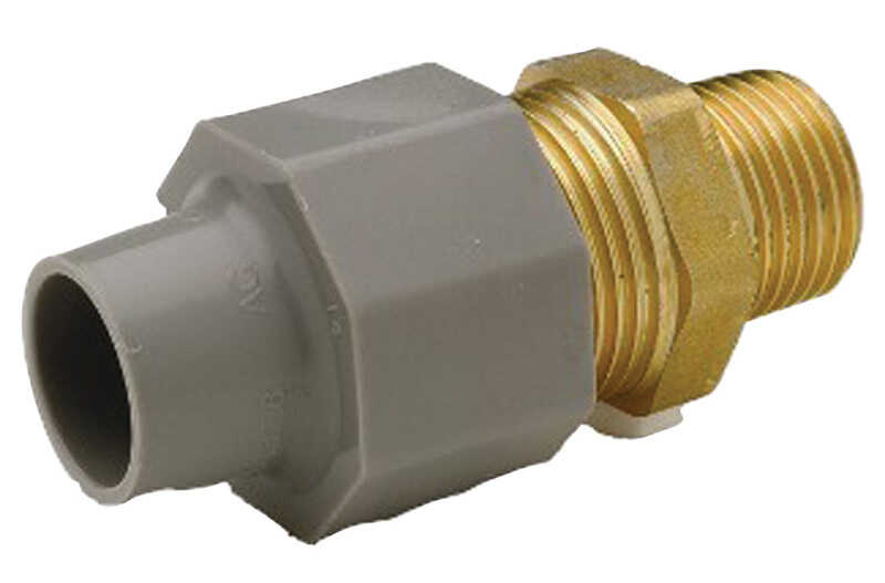Zurn  Qest  3/4 in. CTS   x 3/4 in. Dia. MPT  Pex Coupling Adapter