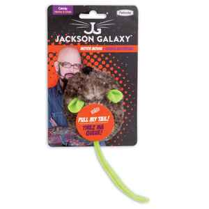 Jackson Galaxy  Gray  Motor Mouse  Plastic  Catnip Mouse Cat Toy