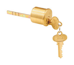 Prime-Line  Segal  Brushed Brass  Solid Brass  Key Lock Cylinder  Keyed Differently