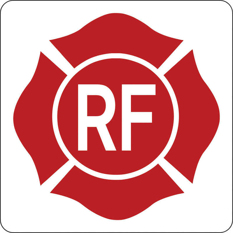 Hy-Ko  English  RF Symbol - Roof and Floor Truss  Sign  Aluminum  9 in. H x 9 in. W