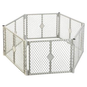 North States  Superyard  Gray  26 in. H x 18.5 in. W Plastic  Child Safety Gate