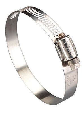 Ideal  Hy Gear  1-1/4 in. to 2-1/4 in. SAE 28  Silver  Hose Clamp  Stainless Steel  Band