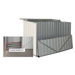 Build-Well  4 ft. W x 3 ft. D White  Metal  Horizontal  Storage Shed and Floor Kit  true