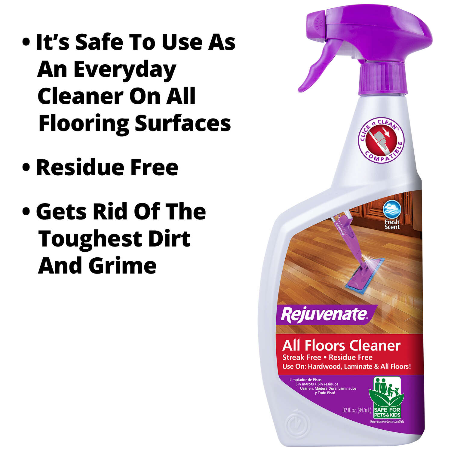 Rejuvenate  Clean Fresh Scent Floor Care Kit  32 oz. Spray