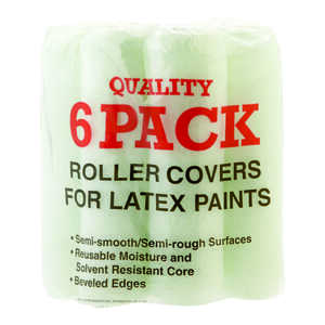 Linzer  Quality  Synthetic Blend  3/8 in.  x 9 in. W Regular  Paint Roller Cover  6 pk For Semi-Smoo