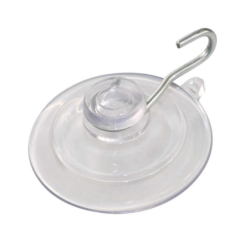 HILLMAN  OOK  Clear  Plastic  Cup/Picture Hook  1 lb. 6 pk