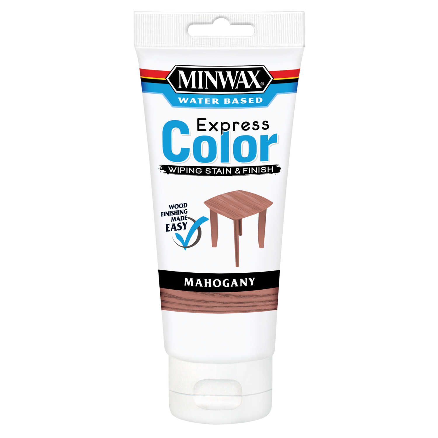 Minwax  Express Color  Semi-Transparent  Mahogany  Water-Based  Acrylic  Wiping Stain and Finish  6
