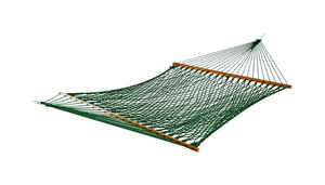 Castaway  118 in. L x 60 in. W Green  Rope Hammock  With Stand 2 person
