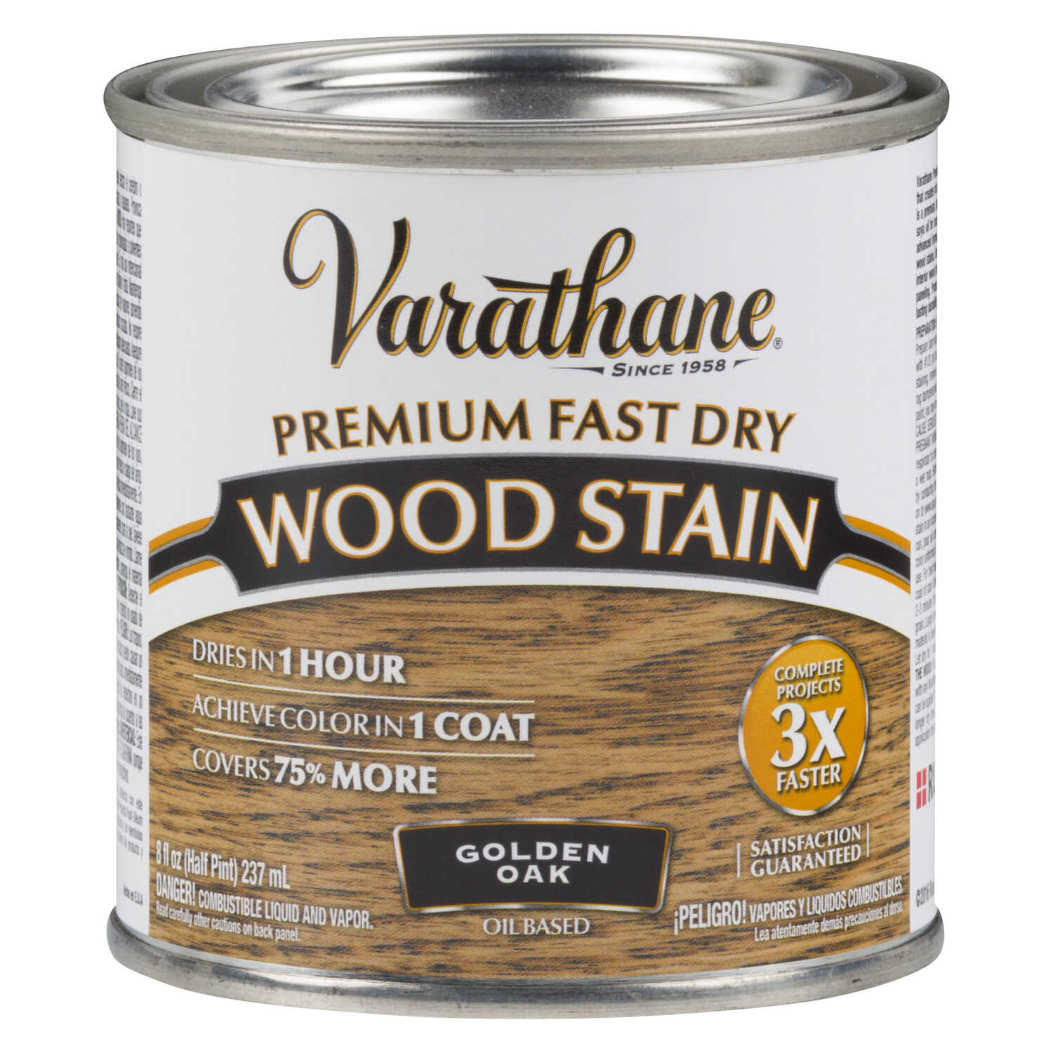 Varathane  Premium Fast Dry  Semi-Transparent  Golden Oak  Wood Stain  0.5 pt.