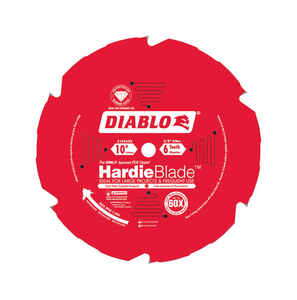 Diablo  Hardie  10 in. Dia. x 5/8 in.  Carbide Tipped  Fiber Cement Blade  6 teeth 1 pc.
