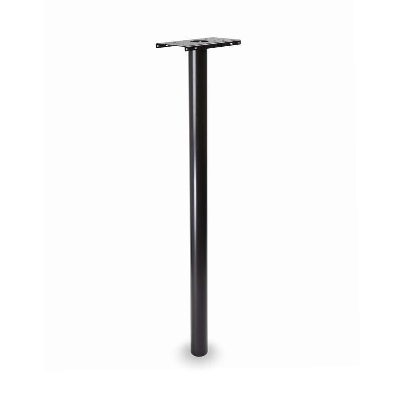 Architectural Mailboxes Pacifica 53.5 in. Powder Coated Black Galvanized Steel Mailbox Post