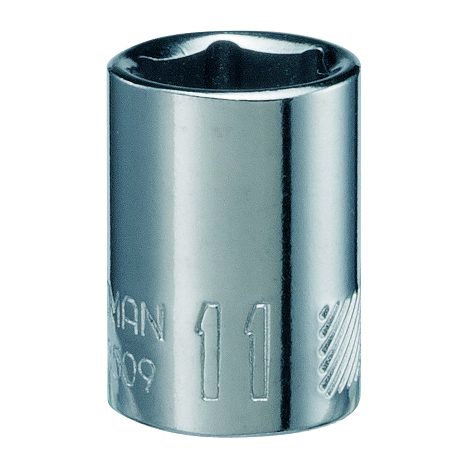 Craftsman  11 mm  x 1/4 in. drive  Metric  6 Point Standard  Shallow Socket  1 pc.