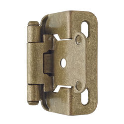Amerock 1-1/2 in. W x 2-1/4 in. L Burnished Brass Steel Self-Closing Hinge 2 pk