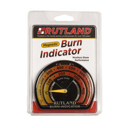 Rutland Burn Indicator Magnetic Stove Thermometer